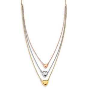 14K Gold Three 💙's of Love Layer Necklace